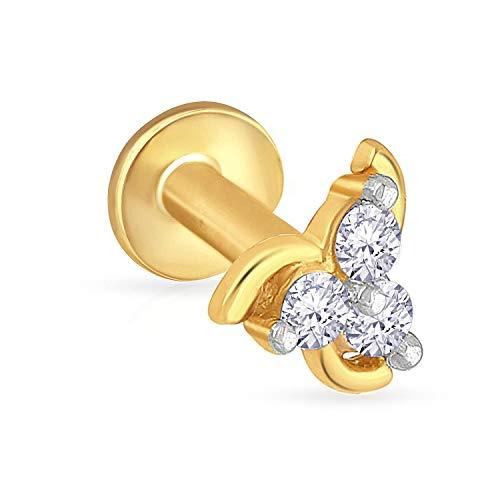 Malabar Gold   Diamonds 22KT Yellow Gold Nose Pin for Women