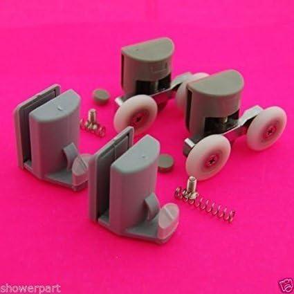Model Set of 8 Double Shower Door Rollers//Hooks//Wheels TOP /& BOTTOM 23mm Wheel Diameter 902A 106,