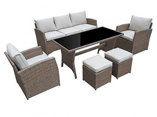 garten loungem bel havanna in natur gartenm bel essgruppe aus polyrattan von jet line online. Black Bedroom Furniture Sets. Home Design Ideas