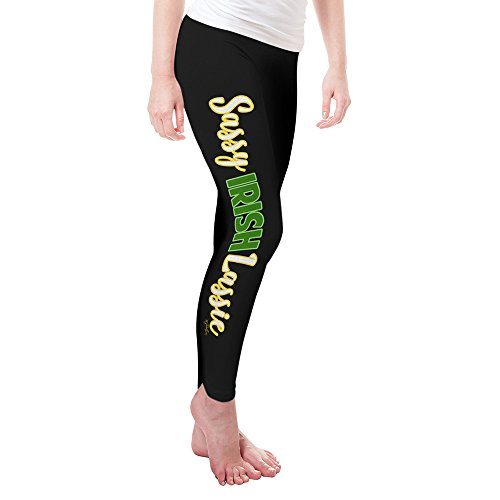 TWISTED ENVY Leggings For Women Sassy Irish Lassie Women's Leggings Large Black