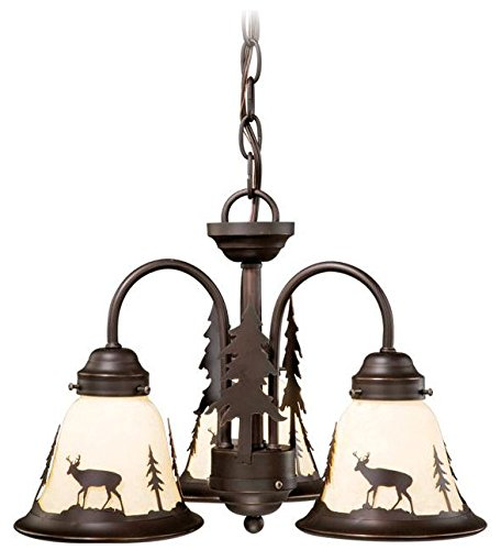 Vaxcel LK55416BBZC 3 Light Bryce Fan Kit Chandelier, Burnished Bronze by Vaxcel