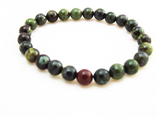 Dragon Blood Jasper 8mm Beads Bracelet Stretch Crystal Reiki Meditation (Eye Jasper)