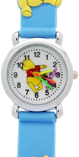 Disney Blue Rubber Kids Watches Winnie the Pooh and Piglet Pattern