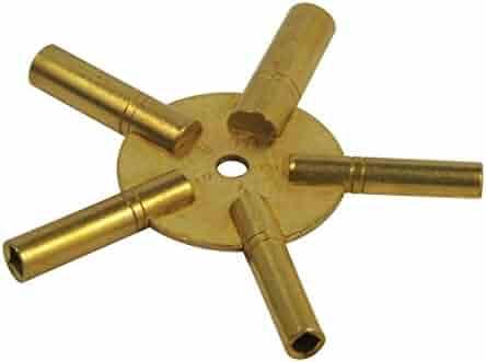 SE JT6334 5-in-1 Even Number Brass Clock Winding Key