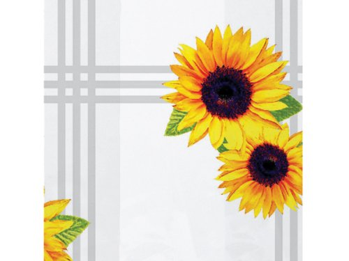 Pack Of 100, Sunflowers Cello Bags Cello Bags 1.2 Mil 4 X 2 X 9'' Capacity 3 Cups Made In USA