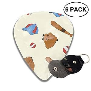celluloid guitar picks 3d printed baseball glove cap bat best guitar bass gift for. Black Bedroom Furniture Sets. Home Design Ideas