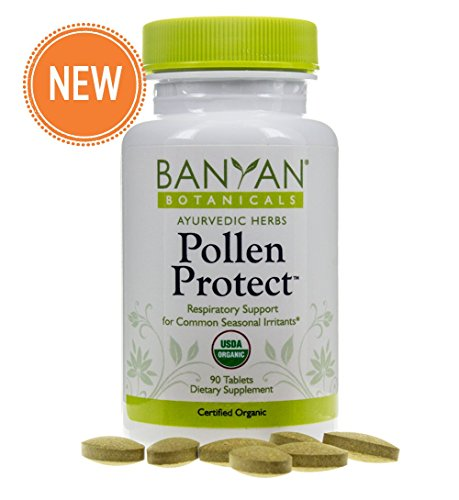 Banyan Botanicals Pollen Protect - USDA Organic, 90 Tablets - Supports a Healthy Response to Airborne Allergens*