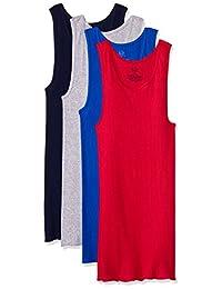 Fruit of the Loom 4P261CM Camiseta de Tirantes para Hombre, Multicolor, PAQUETE DE 4 PIEZAS, (Colores pueden variar)