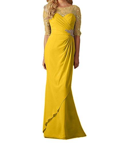 Ballkleider Brautmutterkleider Gelb Rock Blau Damen Schnitt Charmant Schmaler Abendkleider Dunkel Dunkel Langes YwAgnxPqX