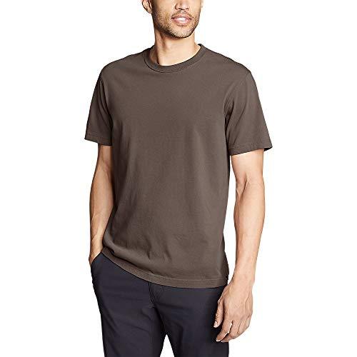 Mushroom Brown Apparel - Eddie Bauer Men's Legend Wash Classic Pro Short-Sleeve T-Shirt, Mushroom Regular