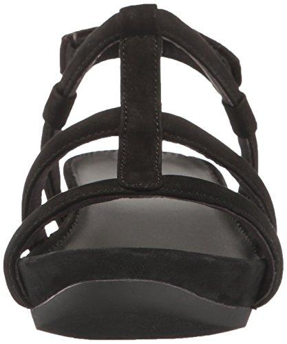 Lara Micro Mujer Camper Sandalias Negro de cuña 6cqaZTzZ5w