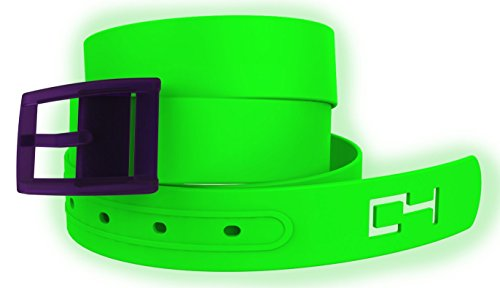 Easy Halloween Costumes For Teenage Girls (Green Glow with Plum Buckle. Great for Donatello Ninja Turtles or Similar Halloween or Cosplay Costume)