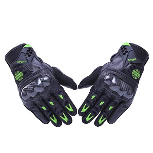 AMCER Full Finger Gloves Touch Screen and Knuckle Protective Gloves for Motorcycle Bike Racing Protection Men and Women XX-Large