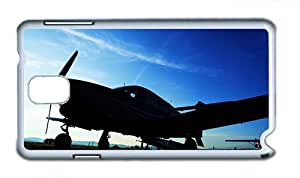 Cute sparkle Samsung Note 3 cover Aircraft evening sky photo PC White for Samsung Note 3/Samsung N9000