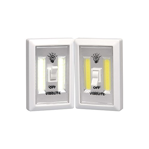 Battery Operated LED Night lights, COB LED Cordless Light Switch, Under Cabinet, Shelf, Closet, Nightlight & Kitchen RV & Boat (2-pack)