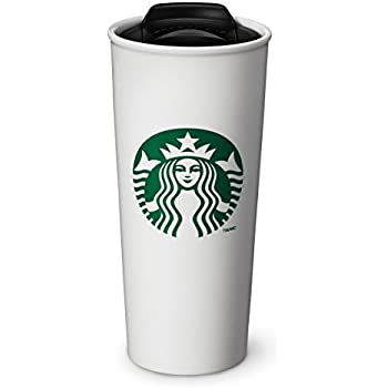 2d4481ca214 Amazon.com: Starbucks Double Wall Ceramic Traveler Coffee Mug, 16 fl ...