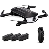 Nacome JJR/C H37 Mini Baby ELFIE RC Drone With 3 Battery Selfie Headless Drone Toys 6 Axis Gyro /4CH /WiFi Remote Control/720P HD Camera