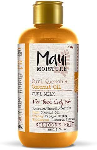 Maui Moisture Quench + Coconut Oil Curl Milk, 8 Ounce