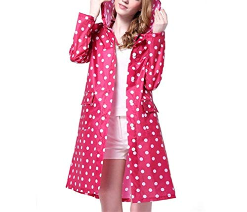 Lady Cappotto Equitazione Di Impermeabile Poncho Pioggia Giovane Rot Escursionismo Dot Outdoor Lungo Incappucciato Wave Anaisy Cute Cartoon Rose Rainwear Viaggi B1YqRYS
