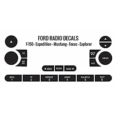 Radio Button Repair Decals for Ford F-150 Expedition Focus Explorer Fits Most 2005 2006 2007 2008 2009 2010 Models: Automotive