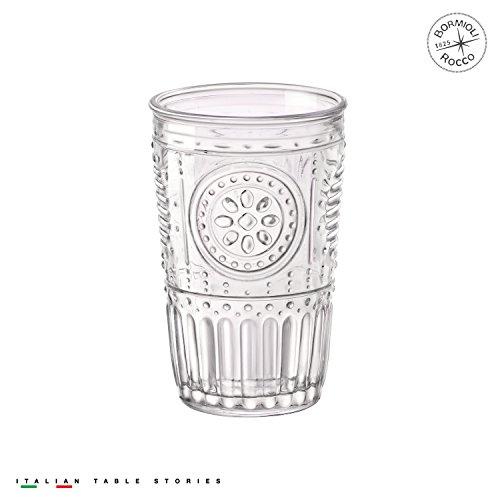Bormioli Rocco Romantic Water Glass, 10.25 oz., Set of 4 , (Romantic Glass)