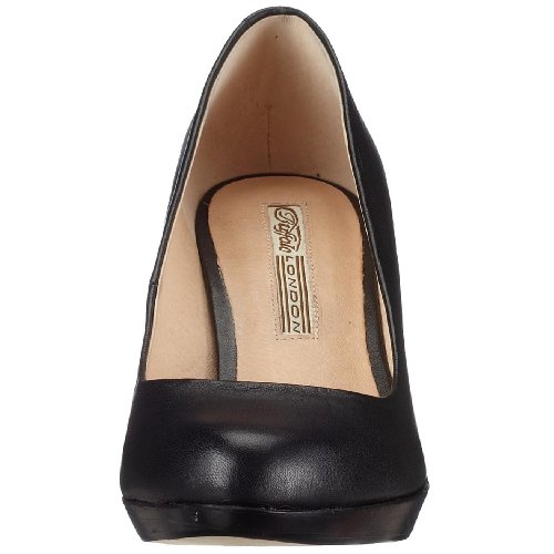 107972 Escarpins noir London Noir Leather 3499 Buffalo Kid Femme 01 109 q1AwZX4F