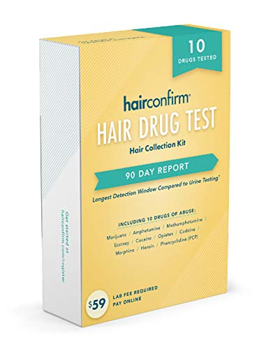 Hair Drug Test - HairConfirm 10 Panel Hair Drug Test