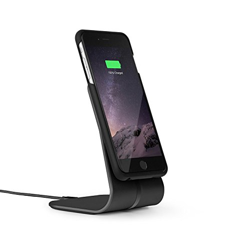 XVIDA Wireless Charging Office Kit - Qi Charging - Wireless Charging Protective Case and Magnetic Charging Stand for iPhone 6/6S Plus - Black by XVIDA