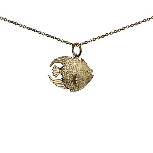 9e3c5116a416 Barato Oro amarillo 375 1000 – 19 x 11 mm pingüino sólido colgante con  cadena