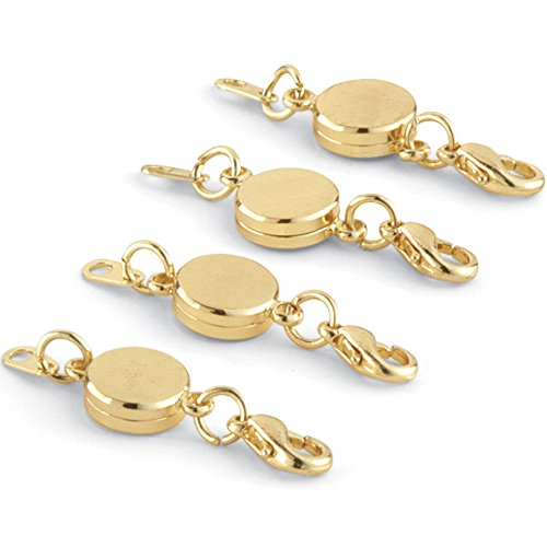 Gold Jewelry Collection (Collections Etc Easy On Off Magnetic Jewelry Clasps - Set Of 4, Gold)