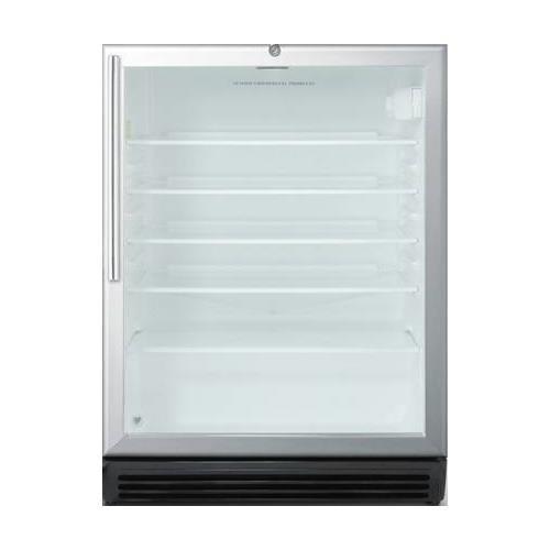 Summit SCR600BLHVADA Beverage Refrigeration, Glass/Black