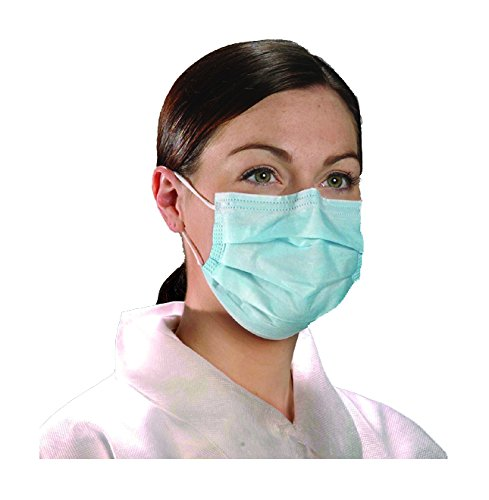 Filtration Pro (Alpha Pro Tech BL 5005 Critical Cover AlphaAir Facemask with Ear Loop, Particle Filtration to 0.1 Micron, Blue (Case of 500))