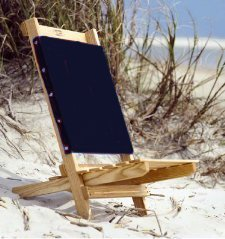 Tidewater Wooden Beach Chair Camp Chair Hand Made in USA with Ash Lumber