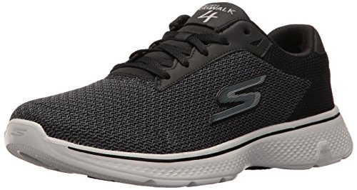 skechers-performance-mens-go-walk-4-noble-walking-shoe-black-gray-mesh-115-m-us