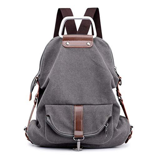 Fashion function Canvas Messenger Style Vhvcx Wild A Bag Retro Backpack Multi Shoulder Ladies dzZZqtw