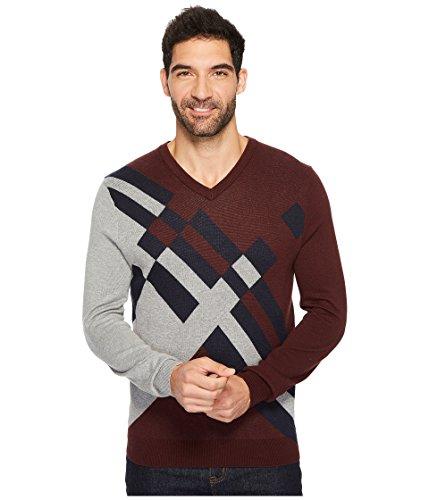Cotton Argyle Sweater - 2