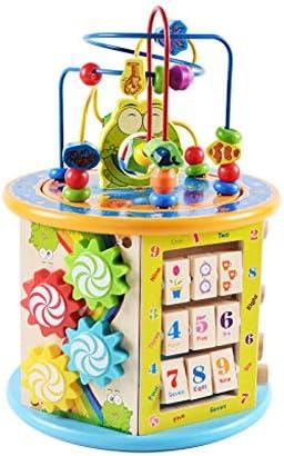 Baby Toys, Children Round Beads Treasure Chest Puzzle Beaded Blocks Boys und Girls Baby Intelligence Toys 1-2 ein Jahr Old