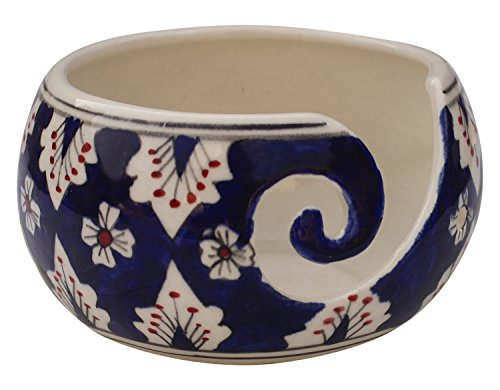 Black Friday Deals Cyber Monday Deals - Ceramic Yarn Bowl for Knitting, Crochet for Moms - Beautiful Gift on All Occasions. A Perfect Gift for Moms and Grandmothers (Big Yarn_22) by abhandicrafts (Image #3)
