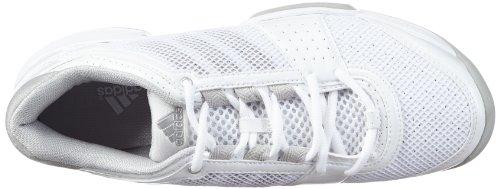 adidas Performance barricade team 3 W CPT - Zapatillas De Tenis de material sintético mujer blanco - Weiß (RUNNING WHITE FTW / METALLIC SILVER / ICE GREY)