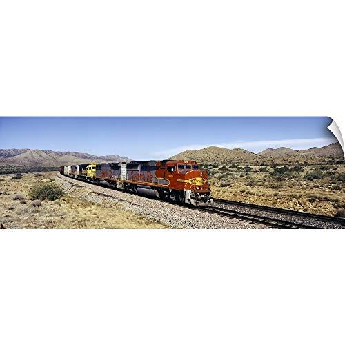 (Train on a Railroad Track, Santa Fe Railroad, Arizona Wall Peel Art Print, 90