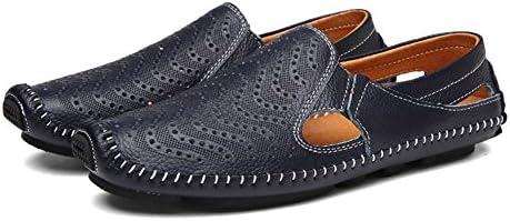 ビーチサンダル メンズ ドライビングシューズ 革靴 通気性 大きいサイズ パンチング メッシュ 通勤 ドライブ ベルクロ 紳士靴 足ムレ防止 編み込み 柔らかい履き心地 アウトドア 茶