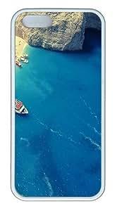meilz aiaiBeach In Greece Beach Custom Case Cover Compatible with Apple iPhone 5S/5 - TPU - Whitemeilz aiai