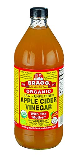 Bragg Organic Raw Apple Cider Vinegar, 32 Ounce - 1 Pack (Apple Cider Vinegar And Honey Drink Recipe)
