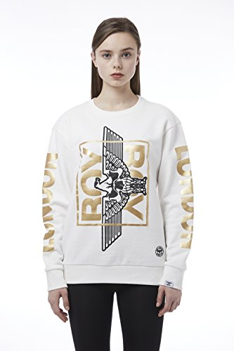 BOY London Unisex (S,M,L,XL) 18SS Skull Eagle Basic Fit Sweatshirt - Black-Gold,Whtie-Gold New_ (BH1SS101) (White-Gold, Medium) by BOY London