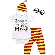 3Pcs/Set Baby Boy Girl Infant Snuggle this Muggle Rompers (6-12 Months)