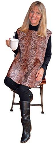 (TidyTop Stylish Clothing Protector, LEOPARD, Adult Bib, 18