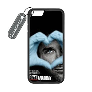 CASECOCO(TM) iPhone 6 Case, Favorite TV Series Grey's Anatomy Case for iPhone 6 (4.7-inch) - Protective Hard Back / Black Rubber Sides