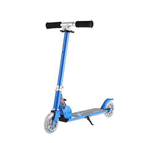 Anjojo Kids Kick Scooter Height Adjustable HandleBar Mini Push Scooter with 2 LED Lighted UP Wheels for Kids And Youths