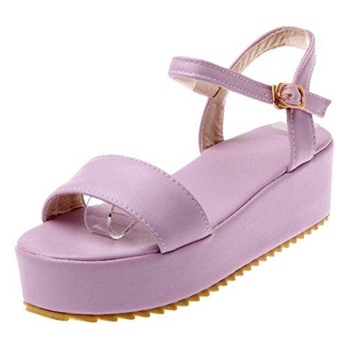 Sandali Flatform Scarpe Purple Donna TAOFFEN Y8nxpRx
