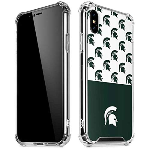 lowest price f6faa a9b15 Skinit Michigan State University Spartans MSU Split iPhone XR Clear Case -  Officially Licensed College Phone Case Clear - Transparent iPhone XR Cover
